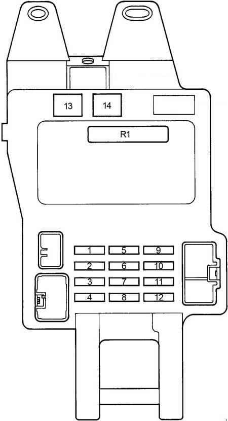 Lexus GS300 - fuse box diagram - passenger compartment fuse box