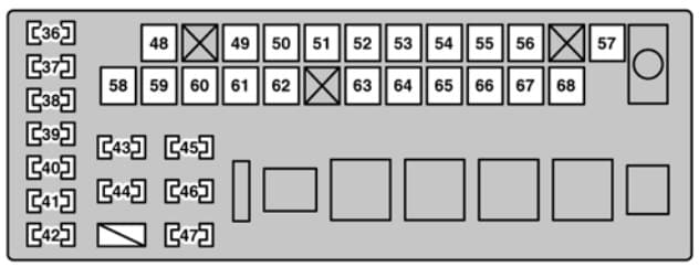 Lexus GS300 - fuse box - engine compartment