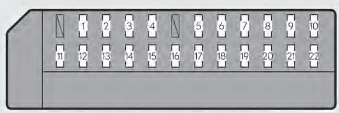 Lexus GS350 - fuse box - driver's instrument panel