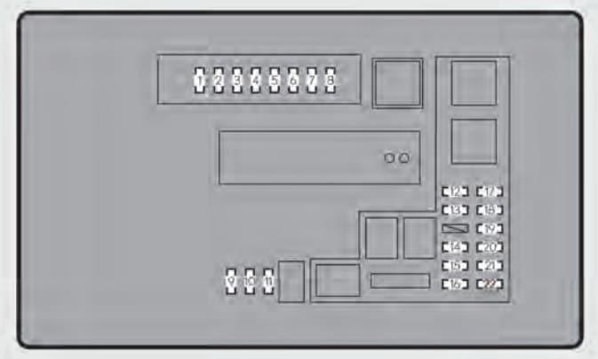 Lexus GS350 - fuse box - engine compartment (type B)