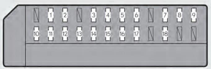 Lexus GS350 - fuse box - passenger's instrument panel