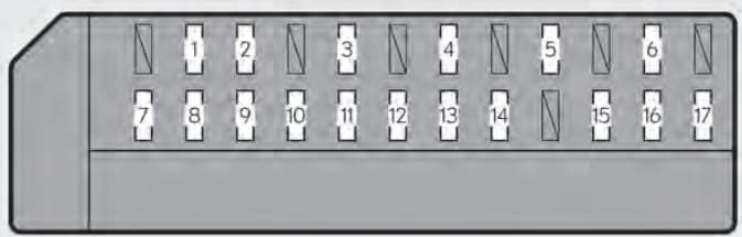 Lexus GS350 - fuse box - trunk