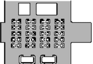 Lexus GS400 - fuse box - driver's side kick panel