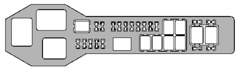 Lexus GS400 - fuse box - engine compartment