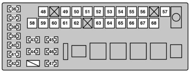 Lexus GS430 - fuse box - engine compartment