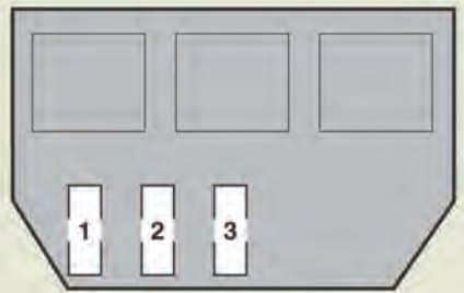 Lexus GS430 - fuse box - luggage compartment (vehicle with active stabilizer suspension system)