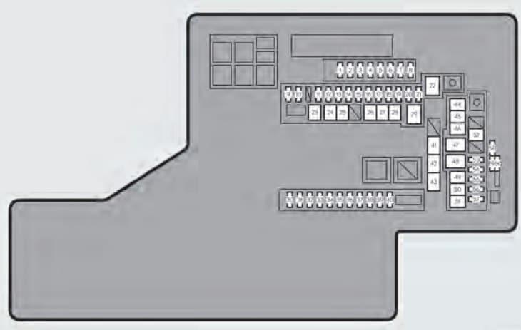 Lexus GS450h - fuse box - engine compartment