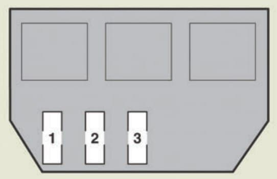 Lexus GS450h - fuse box - luggage compartment (vehicle with active stabilizer suspension system)