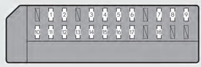 Lexus GS450h - fuse box -passenger's side instrument panel