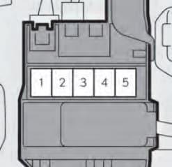 Lexus GS450h - fuse box - the upper part of the 12 volt battery