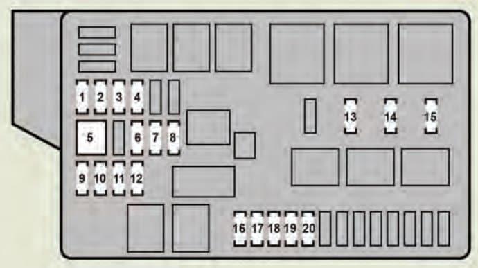 Lexus GS460 - fuse box - engine compartment (type B)