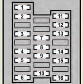 Lexus GS460 - fuse box - left side instrument panel