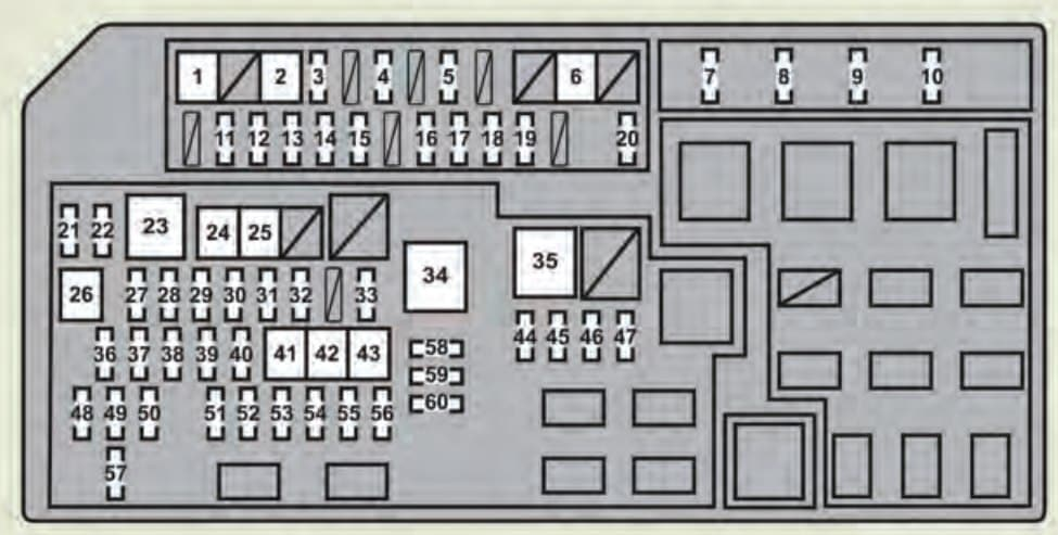 Lexus GX460 - fuse box - engine compartment
