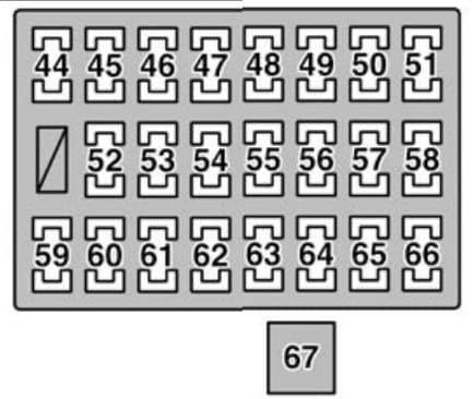 Lexus GX470 - fuse box - driver's side instrument panel