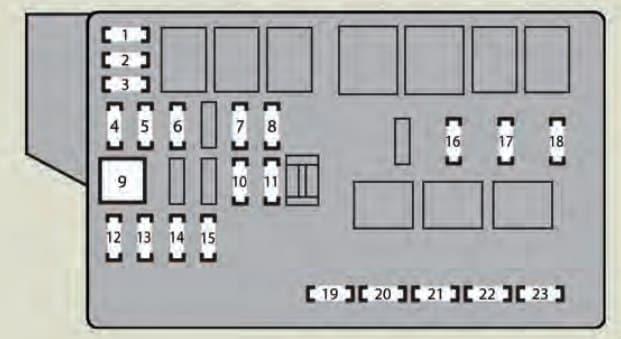 Lexus IS F - fuse box - engine compartment (type B)