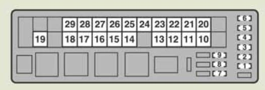 Lexus IS250 - fuse box - engine compartment (type A) - right-hand drive vehicle