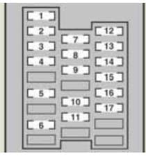 Lexus IS250 - fuse box - right side instrument panel