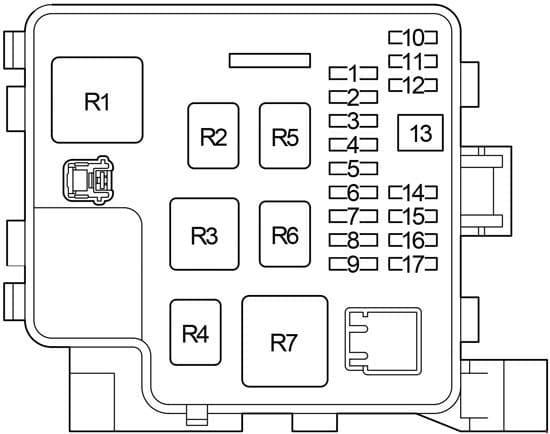 Lexus LS 430 - fuse box diagram - engine compartment