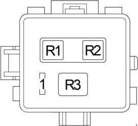 Lexus LS 430 - fuse box diagram - engine compartment relay box 2