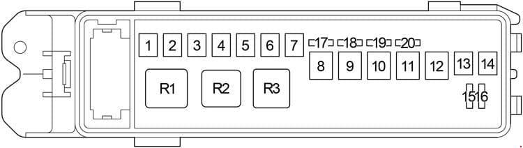 Lexus LS 430 - fuse box diagram - fusible link block