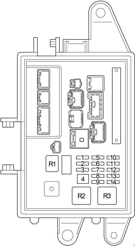 Lexus LS 430 - fuse box diagram - luggage compartment