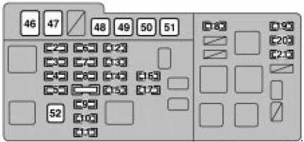 Lexus RX 300 - fuse box diagram - engine compartment fuse box