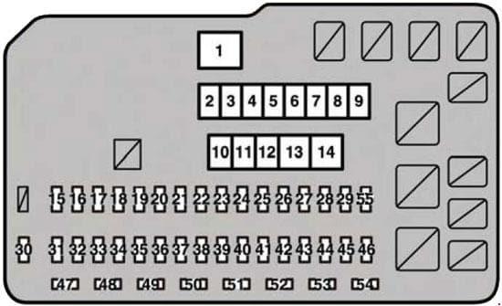 Lexus RX-350 (AL10) - fuse box diagram - engine compartment