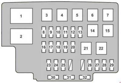 Lexus RX 350 - fuse box diagram - engine compartment fuse box