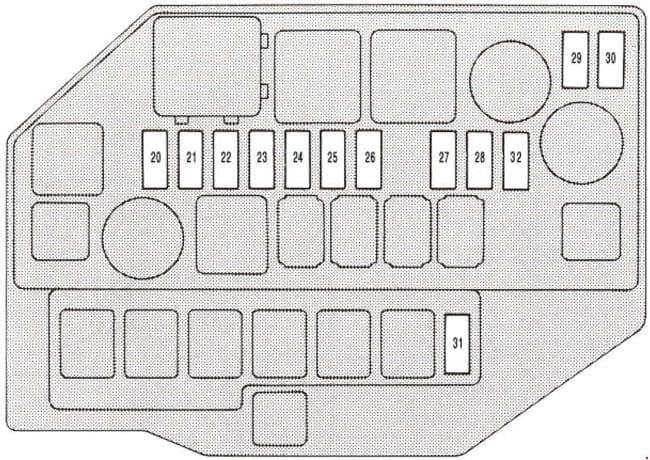 Lexus SC 300 - fuse box diagram - engine compartment
