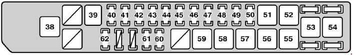 Lexus SC 430 - fuse box diagram - engine compartment (right)