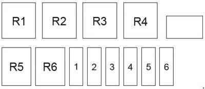 Lifan 520 (Breez) - fuse box diagram - engine compartment