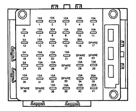 Lincoln Continental mk9 - fuse box - instrument panel