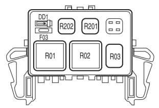Lincoln Mark LT - fuse box - auxiliary relay box