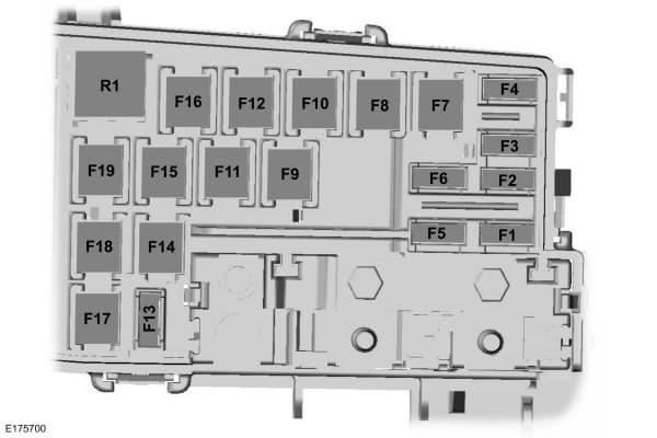 Lincoln MKC - fuse box - rear cargo