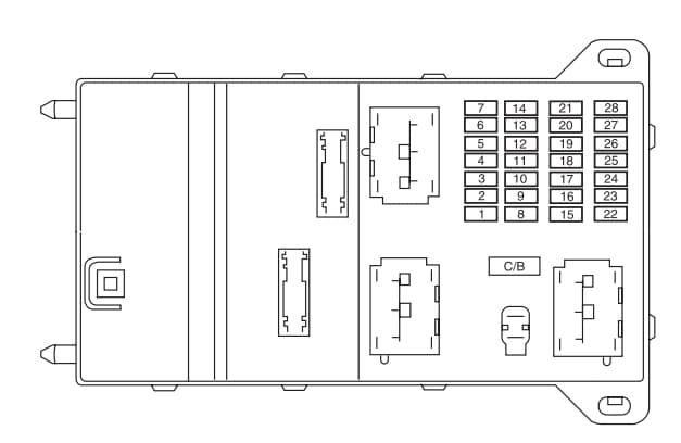 Lincoln Zephyr - fuse box - passenger compartment