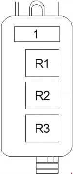 Lincoln Town Car - fuse box diagram - additional relay box