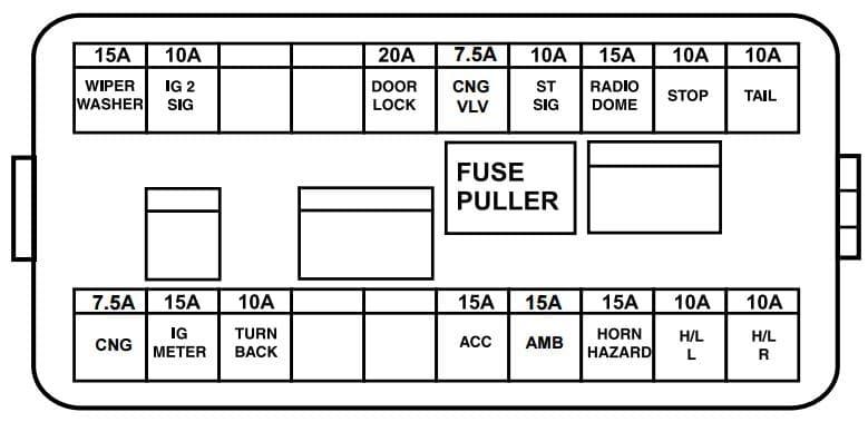 Maruti Suzuki - fuse box - primary fuse