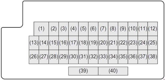 Maruti Suzuki Baleno - fuse box diagram - dashboard (with keyless)