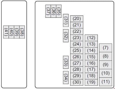 Maruti Suzuki Baleno - fuse box diagram - engine compartment