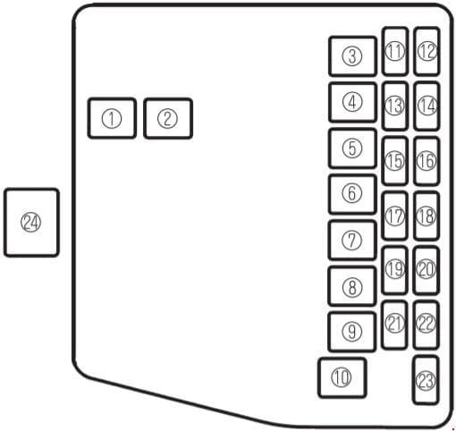 Mazda 323 - fuse box diagram - engine compartment