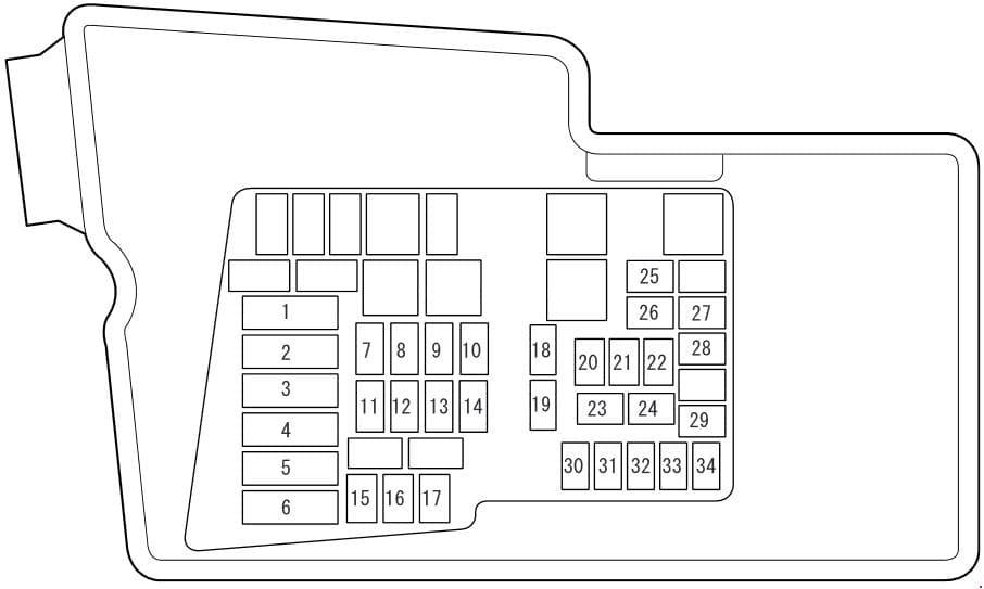 Mazda CX-7 - fuse box diagram - engine compartment