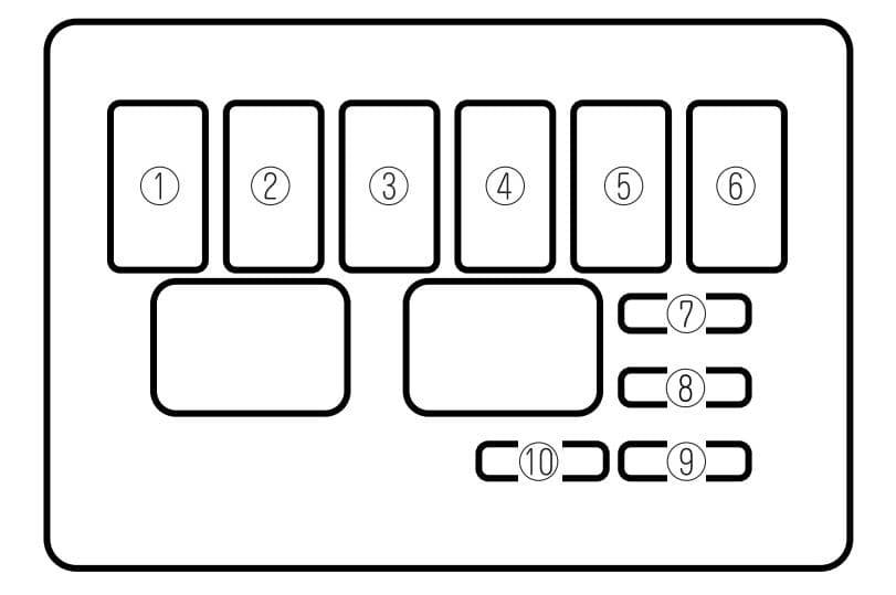 Mazda MX-5 - fuse box - engine compartment
