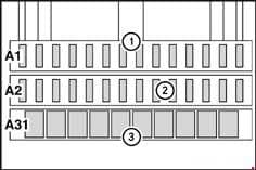 Mercedes-Benz Atego - fuse box diagram - auxiliary fuse