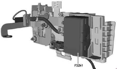 Mercedes-Benz B-Class w242, w246 - fuse box diagram - front electrical prefuse box