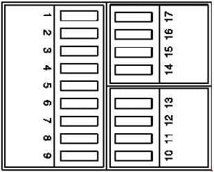 Mercedes-Benz C-Class w202 - fuse box diagram - trunk