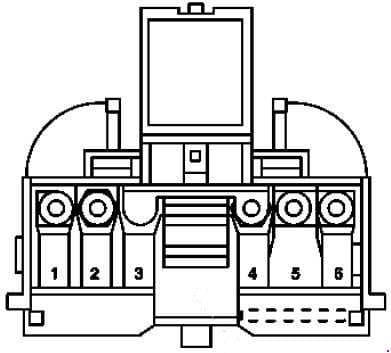 Mercedes-Benz C-Class w203 - fuse box diagram - front prefuse box