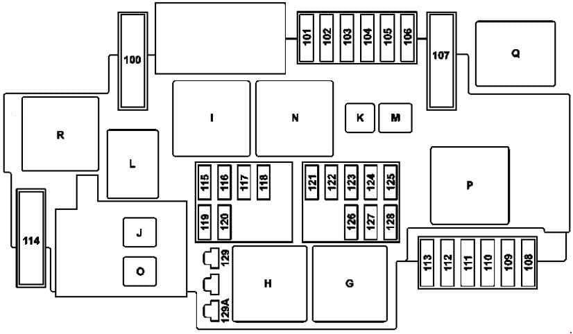 Mercedes-Benz C-Class w205 - fuse box diagram - engine compartment