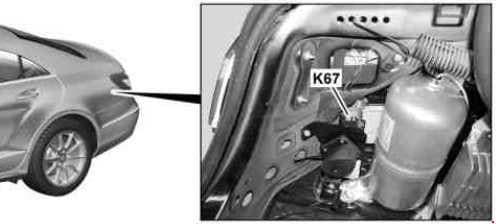 Mercedes-Benz CLS Class w218 - fuse box diagram -AIRMATIC relay