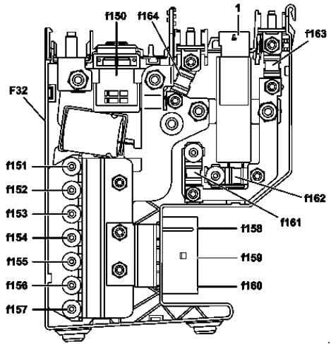 Mercedes-Benz CLS Class w218 - fuse box diagram - front prefuse - without ECO start/stop