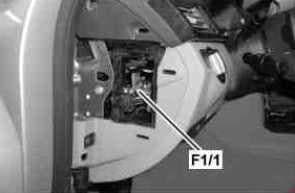 Mercedes-Benz CLS Class w218 - fuse box diagram -instrument panel